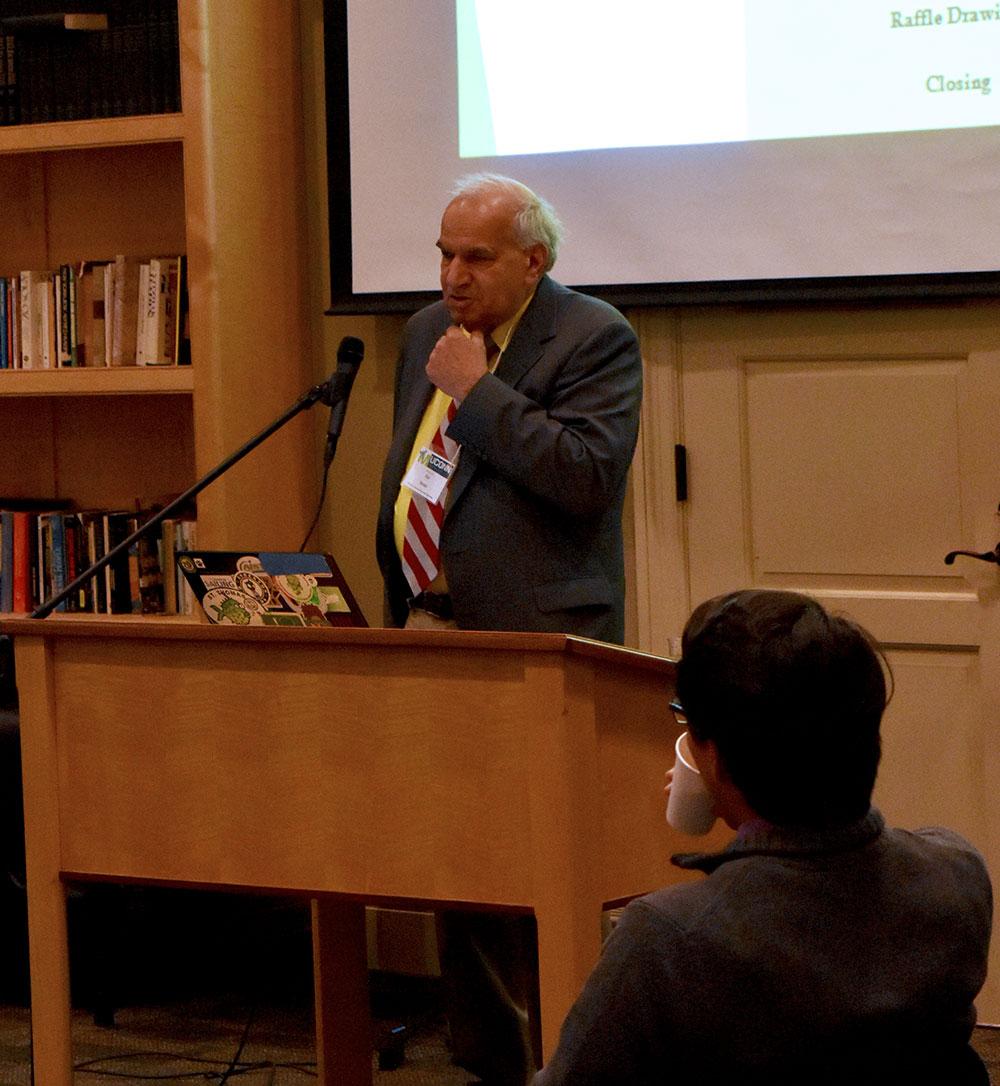 Dr. Harold Brody giving keynote speech.