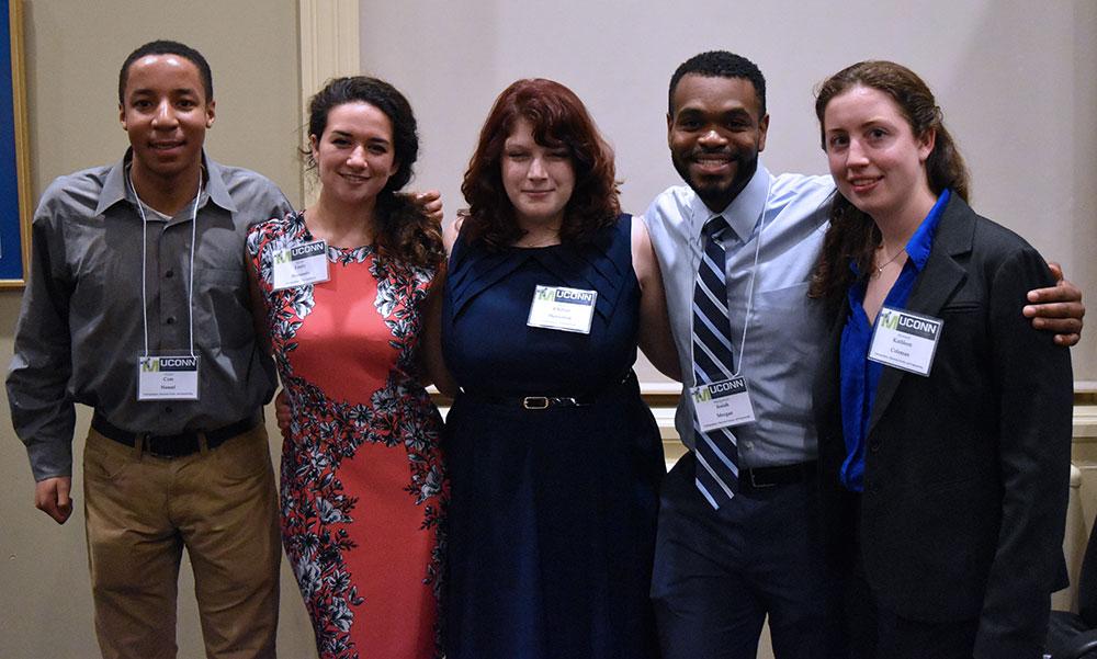 Left to right: Cam Hansel, Emily Bousaada, Chelsea Henderson, Josiah Morgan, and Kathleen Coleman.